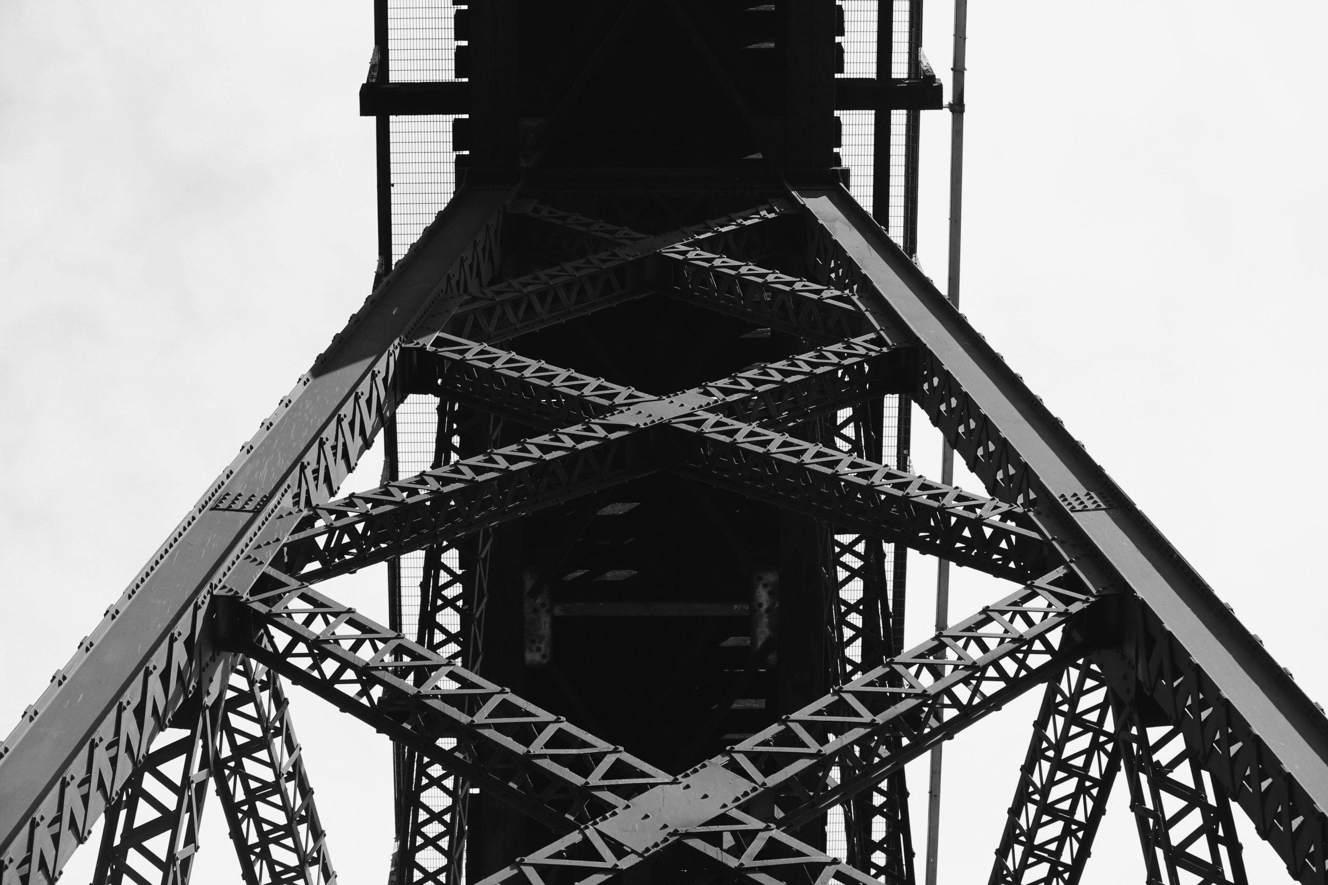 black-and-white-sky-construction-bridge